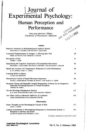 Journal of experimental psychology   human perception and performance PDF