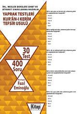 Kur'ân-ı Ker'im / Tefsir Usulü - İslam Tarihi İHL. Meslek Dersleri-DHBT ve Diyanet Sınavlarına Hazırlık - Yaprak Testleri