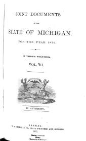 Joint Documents of the State of Michigan for the Year ...: Volume 3