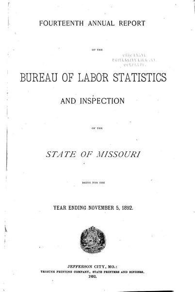 Annual Report of the Bureau of Labor Statistics and Inspection of the State of Missouri PDF