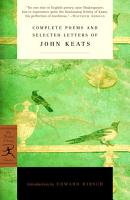 Complete Poems and Selected Letters of John Keats PDF