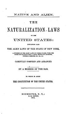 The Naturalization Laws of the United States PDF