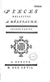 Pièces relatives à Bélisaire ... (par Voltaire, Turgot, Marmontel)