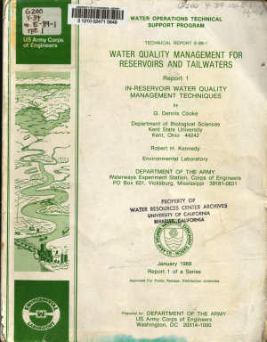 Water Quality Management for Reservoirs and Tailwaters