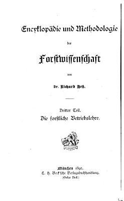 Die Forstliche betriebslehre PDF