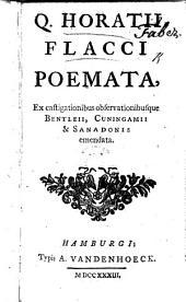 Q. Horatii Flacci Poemata, ex castigationibus observationibusque Bentleii, Cuningamii et Sanadonis emendata [by M. Guyot de Merville].