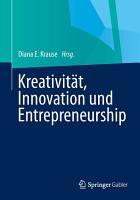 Kreativit  t  Innovation  Entrepreneurship PDF