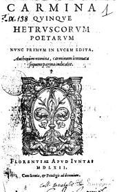 Carmina quinque Hetruscorum poetarum