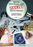 Spies  Wiretaps  and Secret Operations  A J PDF