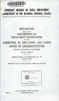 Oversight Hearing on Equal Employment Opportunity in the National Football League PDF
