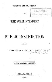 Annual Report of the Department of Public Instruction of the State of Indiana