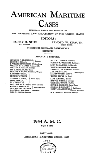American Maritime Cases Book