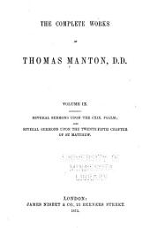 The Complete Works of Thomas Manton, D.D.: With Memoir of the Author, Volume 9