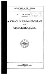 A School Building Program for Gloucester, Mass