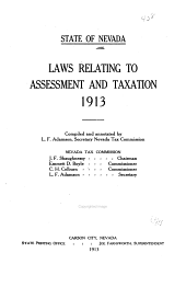 Laws Relating to Assessment and Taxation, 1913