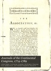 Journals of the Continental congress: 1774-1789