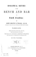 Biographical Sketches of the Bench and Bar of South Carolina PDF