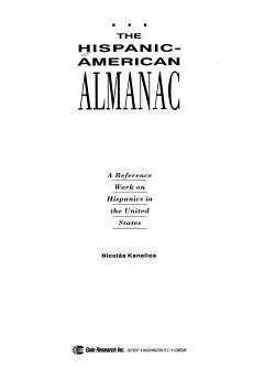The Hispanic American Almanac PDF
