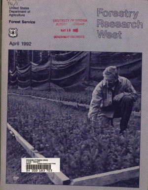 Forestry Research West PDF