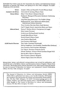 Journal of Education for Library and Information Science PDF