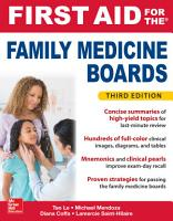 First Aid for the Family Medicine Boards  Third Edition PDF