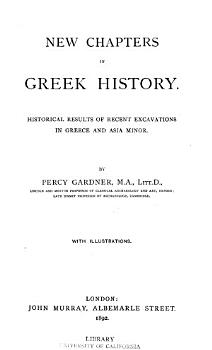 New Chapters in Greek History PDF