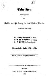 Geschichte der jüdischen Literatur: Abth. Die biblische Literatur. 1. Abschnitt. Die poetische Literatur