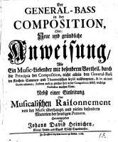 Der General Bass in der Composition  etc   PDF