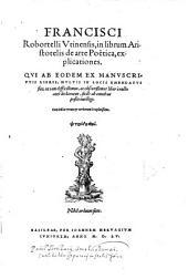In librum Aristotelis de arte Poetica, explicationes