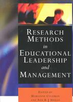Research Methods in Educational Leadership and Management PDF