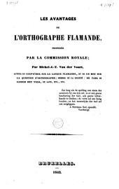Les avantages de l'orthographe flamande proposée par la commission royale
