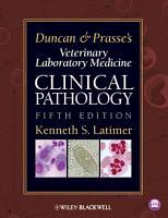Duncan and Prasse s Veterinary Laboratory Medicine PDF