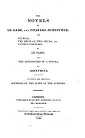 The novels of Le Sage and Charles Johnstone. To which are prefixed, memoirs of the lives of the authors [by sir W. Scott].