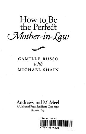 How to be the Perfect Mother in law PDF
