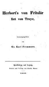 Herbort's von Fritslâr Liet von Troye