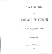 Cyclopedia of law and procedure: Volume 31
