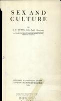 Sex and Culture PDF