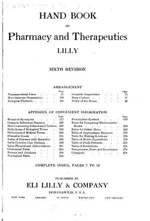 Handbook of Pharmacy and Therapeutics PDF