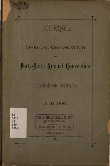 Journal of the     Annual Convention  Diocese of Indiana PDF