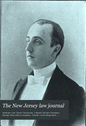 The New Jersey Law Journal: Volume 20; Volume 1897