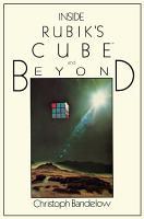 Inside Rubik   s Cube and Beyond PDF