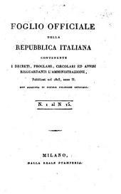 Foglio officiale della Repubblica Italiana: Volume 2, Issues 1-15