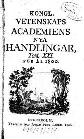Kungliga Svenska Vetenskapsakademiens handlingar: 1800