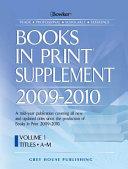 Books In Print Supplement 2009 2010 PDF