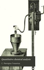 Quantitative Chemical Analysis: Volume 1