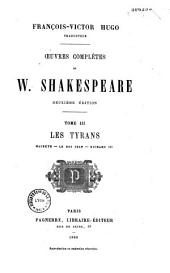 Oeuvres complètes de W. Shakespeare: Volume3
