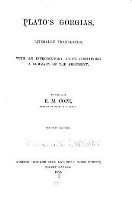Plato s Gorgias PDF