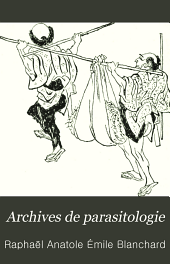 Archives de parasitologie: Volume 3