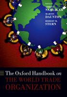 The Oxford Handbook on The World Trade Organization PDF