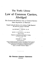 Law of common carriers, abridged